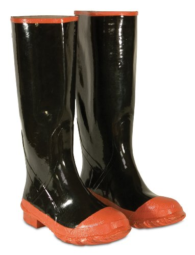 CLC Custom Leathercraft Rain Wear R21009 Red Sole and Toe Rubber Boot, Size 9