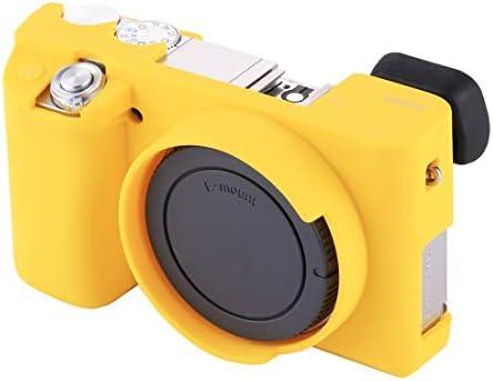 KMLP ソニーILCE6000 / A6000用ソフトシリコン保護ケース (Color : 黄)