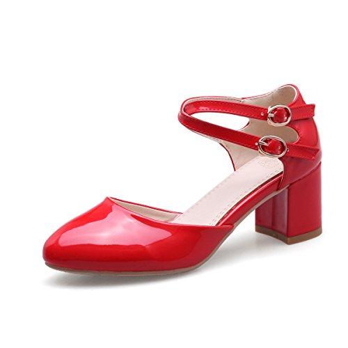 Alla Caviglia Sandali Donna QIN rosso Cinturino amp;X Punta Tacchi w6nHqZT