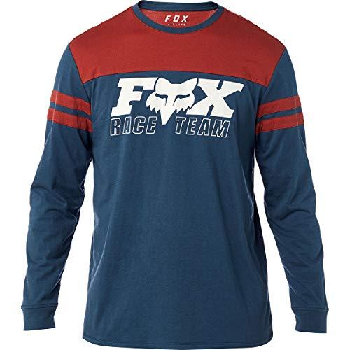 Fox Men's Race Team Long Sleeve Airline Premium T-Shirt, Navy/red, M