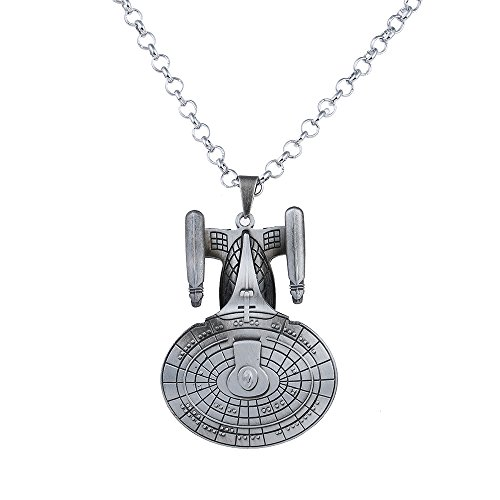 Lureme Star Trek Wars Pendant Chain Fashion Antique Silver Necklace (Star Trek Wars)