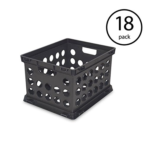 STERILITE Plastic Heavy Duty File Crate Stacking Storage Container (18 Pack) ()