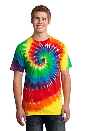 Port & Company Men's Essential Tie Dye Tee XL Rainbow