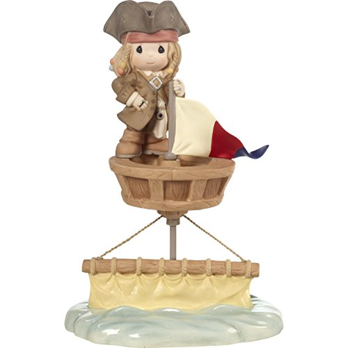 (Precious Moments 172054 I'd Be Sunk Without You Jack Sparrow Bisque Porcelain Figurine Disney Showcase Pirates of The Caribbean, Multi)