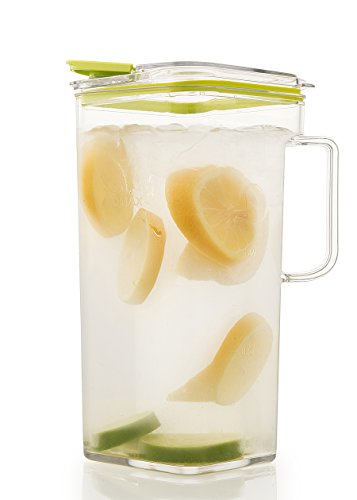 Komax Tritan Clear Large (2 quart) Pitcher With Green Lid BPA-Free - Great for Iced tea & Water by Komax (Image #1)
