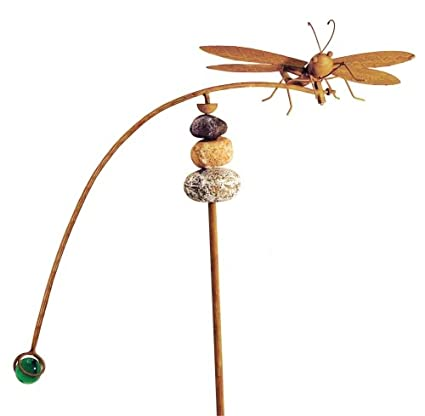 Attirant Red Carpet Studios Balancing Buddies Large Yard Art, Dragonfly