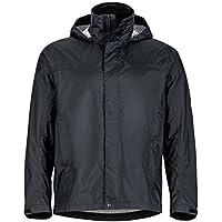 Marmot PreCip Men's Lightweight Waterproof Rain Jacket (S/L/XL) (Jet Black)