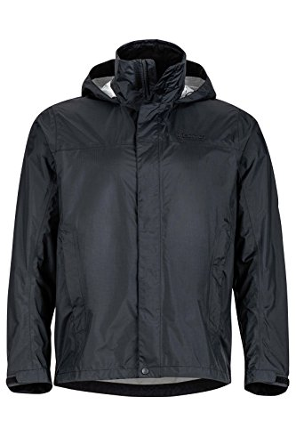(Marmot Men's PreCip Jacket, Jet Black, L)