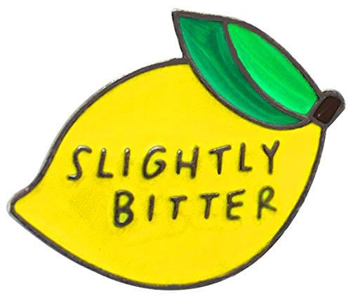 Lemon Enamel - Flairs New York Premium Handmade Enamel Lapel Pin Brooch Badge (Slightly Bitter Lemon, 1 Pin)