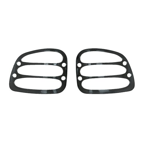 E-Autogrilles Black Carbon Fiber Look ABS Tail Light Bezels Pickup Flareside for Ford F-150 (67-0306CF)
