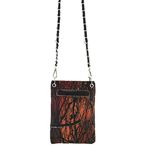 Orange Justin Crossbody Cross Tree West Purse Wings Camouflage Branches Rhinestone Bling Chain Messenger and Buckle Cross FpZ4rFqxw