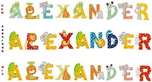 Any Name in Animal Letters //// Any Name Available up to 9 Letters or Characters get Your Name in Wooden Letters!