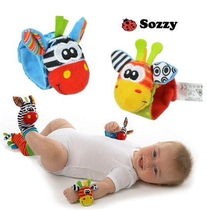 Baby Wrist Rattle Giraffe Soft Wristband Dolls Toddler Cute Bell Educational Toy (2)