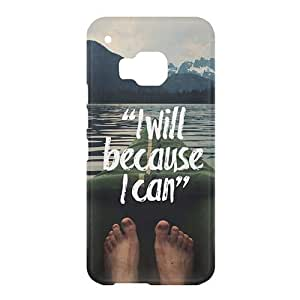 Loud Universe HTC One M9 I Will Because I Can Print 3D Wrap Around Case - Multi Color