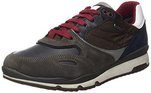 Geox U Sandford B ABX A, Sneaker Uomo Marrone (Charcoal/Ebony)