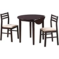 Bowery Hill 3 Piece Dinette Set in Rich Cappuccino