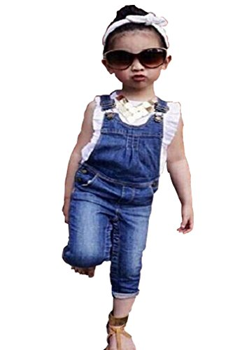 EGELEXY Baby Girls Floral T-shirt + Jean Pants Kids Summer Clothes Outfits 5-6T Pink