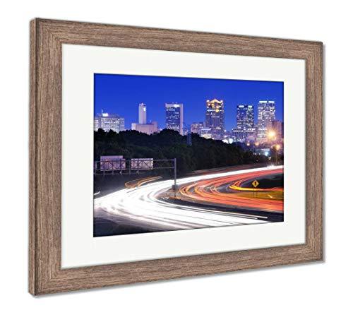 (Ashley Framed Prints Birmingham, Alabama Skyline, Wall Art Home Decoration, Color, 26x30 (Frame Size), Rustic Barn Wood Frame, AG32675477)