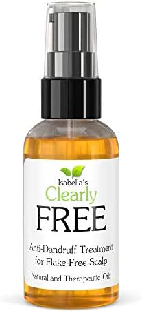 Isabella's Clearly FREE - Best Natural Anti Dandruff Scalp Oil Mask - Itch Relief for Dry Itchy Flaky Scalp with Jojoba, Cedarwood, Manuka, Tea Tree Essential Oils. 2 Oz