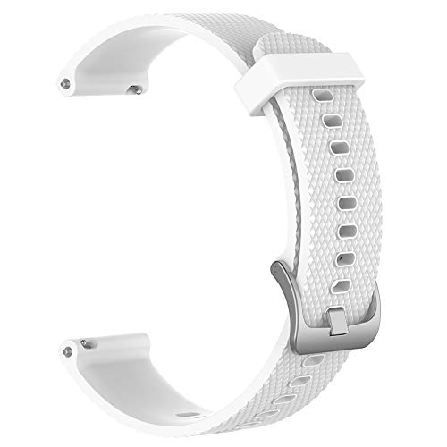 Gyswshh Strap Band Fashion Silicone Replacement for Huawei Magic/Watch GT/Ticwatch Pro White