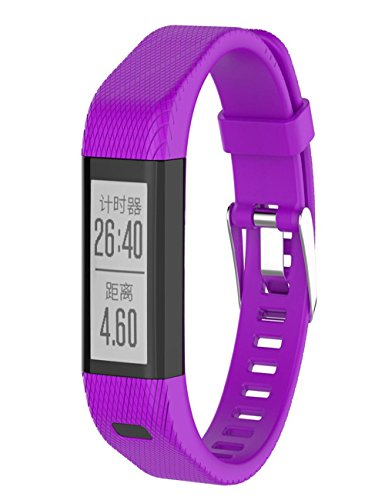 dreaman-fashion-replacement-silicone-band-strap-wristband-bracelet-for-garmin-vivosmart-hr-purple