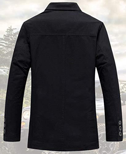 Moda Moda Moda in per in in in in Jeep di Casa All'Aperto Giacca alla per Uomo La Essenziale Giacca Adatta Jersey Adatto Classica Blau Cotone Uwqqdg1