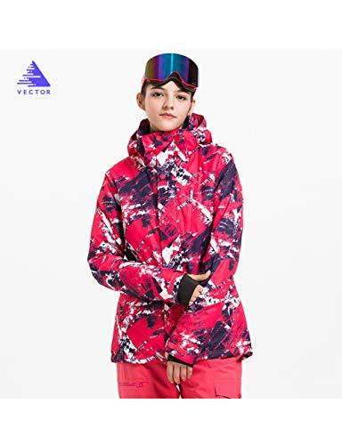Texture Red Invernale Impermeabile Vector Montagna Snowboard Da Sci Antivento Soprabiti Pioggia Cappotto Neve Outdoor Donne Giacca Caldo xqSZ4
