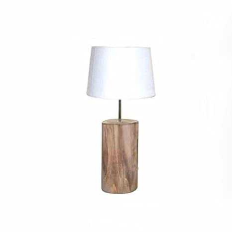 87e97762a624 CJSHVR-Table Lamp European Style Retro Cracking Wooden Pile Desk Lamp  Reading Led Eye Shade
