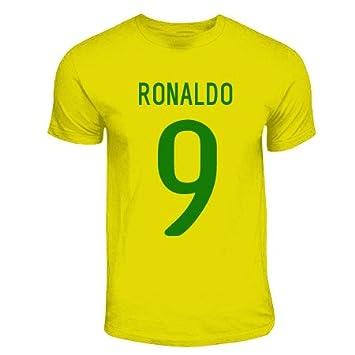 low priced 05200 b9076 Amazon.com : Gildan Ronaldo Brazil Hero T-Shirt (Yellow ...