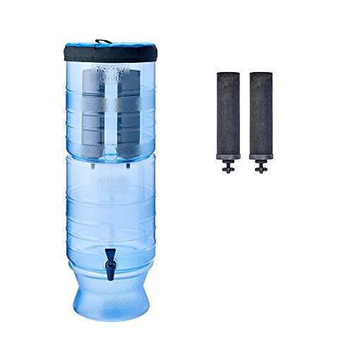 (Berkey Light Gravity-Fed Water Filter with 2 Black Berkey Purification Elements)