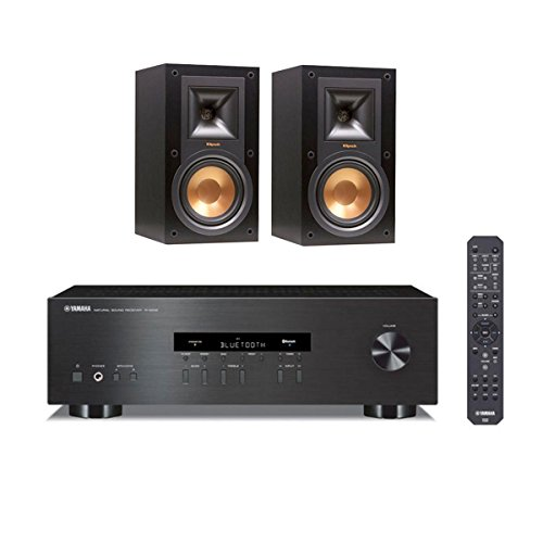 Klipsch R-15M Reference Monitor Speakers with Yamaha R-S202