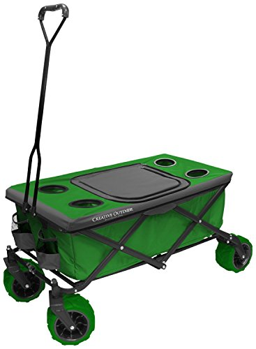 creative-outdoor-distributor-all-terrain-folding-wagon-green-top-included-multipurpose-cart-for-gard
