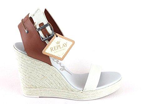 Replay Reana Sandalette Sandale High Heels Off White; Größe Size EU 41