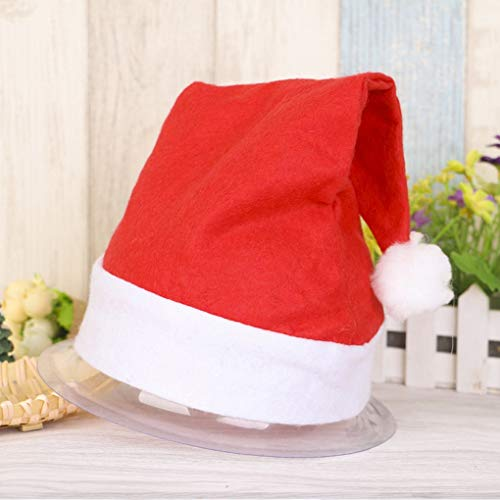 Safety Hat - Fashion Xmas Official Plush Santa Claus Hat Christmas Halloween Festival Costume Safety - Adult Accessories Holder Band Fiber Stickers Strap Flashlight Light Safety Baby Headlamp -