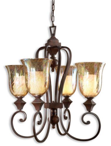 4-Light Chandelier, Spice Finish ()