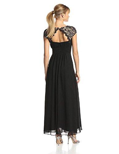Schwarz lang Maxi Cal Beauty mit Abendkleider Spitze Emily wfCCgqyp