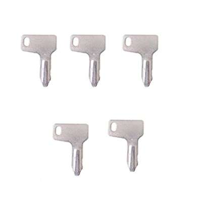 5 keys 301 For Takeuchi Yanmar John Deere Ind RG60472 N4 933110-00301: Automotive
