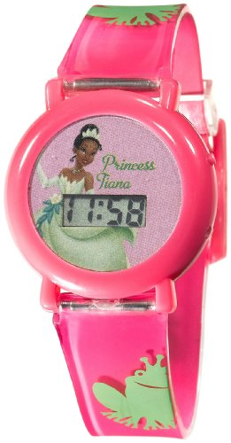 - Disney Kids' PF1005 Princess & the Frog Pink Jelly Strap Watch