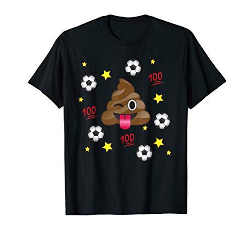 Funny Emoji Poop Play Soccer Team T-Shirt Shirt Kids Mom Dad -