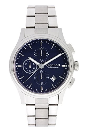 Gigandet Men's Quartz Watch Traveller Chronograph Analog Silver Blue G44-002