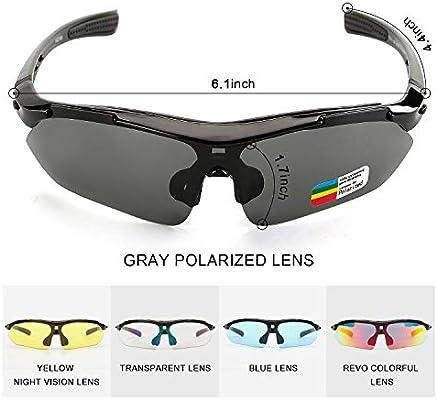 Renzer Gafas Bicicleta Montaña Hombre Gafas Ciclismo Hombre Polarizadas Gafas MTB con 5 Lentes Intercambiables Negro: Amazon.es: Deportes y aire libre