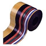 7/8'' H 50' Black Magnetic Roll