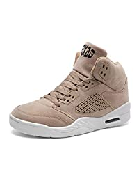 SEAOEEY Men's Basketball Shoes Non-slip Air Cushion Youth Vintage Casual Sneakers