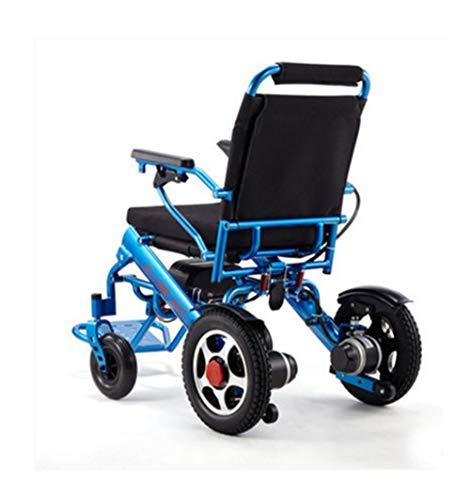 NKDK Wheelchair Aluminum Alloy Electric Wheelchair Lightweight Folding Elderly Electric Wheelchair Lithium Electric Wheelchair