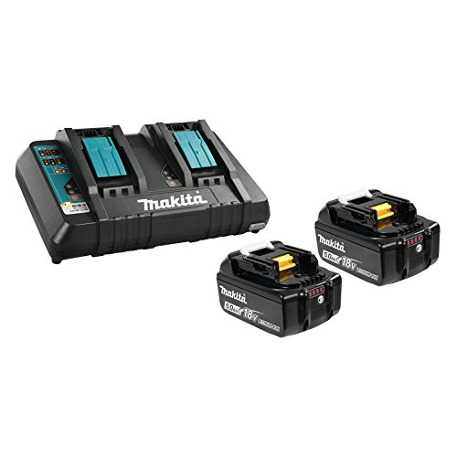 Makita BL1850B2DC2 5.0 Ah 18V LXT Lithium-Ion Battery and Dual Port Charger Starter Pack by Makita