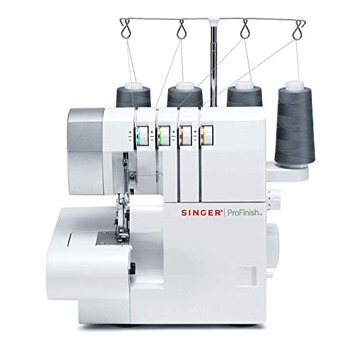 (SINGER Serger 2-3-4 Thread Capability Overlock with Blind, Rolled Hems and Flatlocking, Take Your Creations to The Next Level, White )