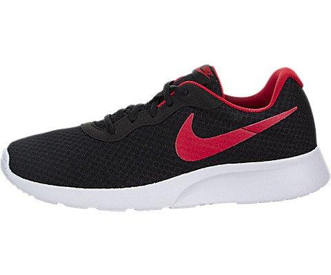 Nike Men's Tanjun Black / University Red-white Running Shoe 12 Men US