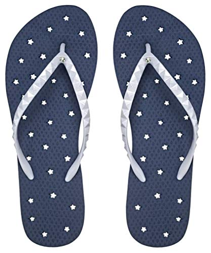 Showaflops Girls' Antimicrobial Shower & Water Sandals for Pool, Beach, Camp and Gym - Nautical 2/3