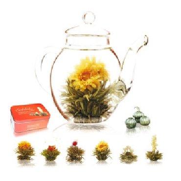 Erblüh-Tee von Creano Geschenk-Set, Weißer Tee