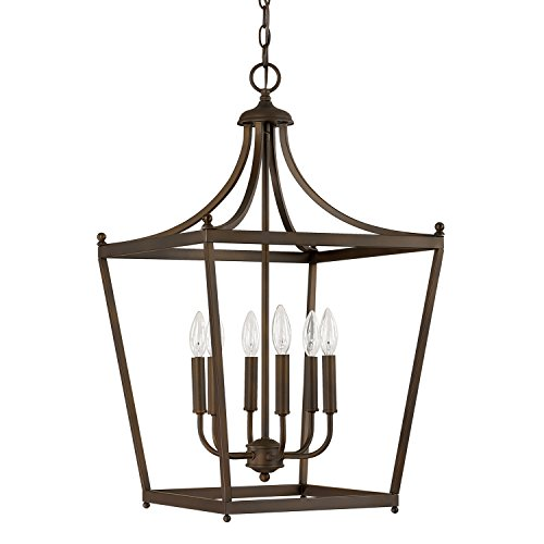 Capital Lighting 9552BB Six Light Foyer (Six Lamp Light Foyer)